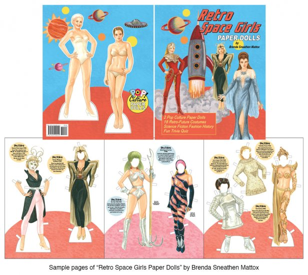 Retro Space Girls Paper Dolls - Click Image to Close