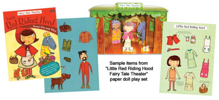 Little Red Riding Hood Paper Doll Playset - Click Image to Close