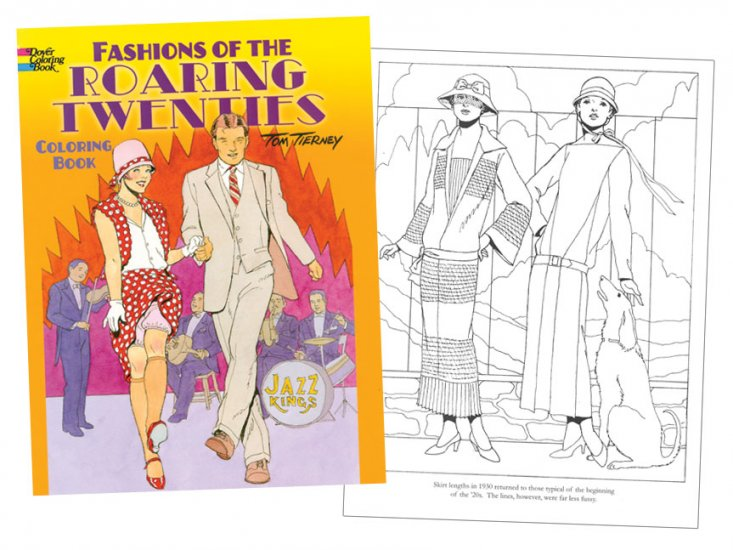 Roaring Fashions of the Twenties Coloring Book - Click Image to Close