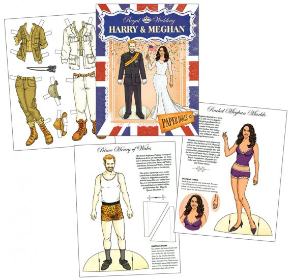 Royal Wedding Paper Dolls - Click Image to Close