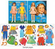 Sally Sandra and Sue Paper Dolls