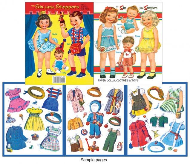 Six Little Steppers Paper Dolls - Click Image to Close
