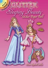 Glitter Sleeping Beauty Sticker Paper Doll
