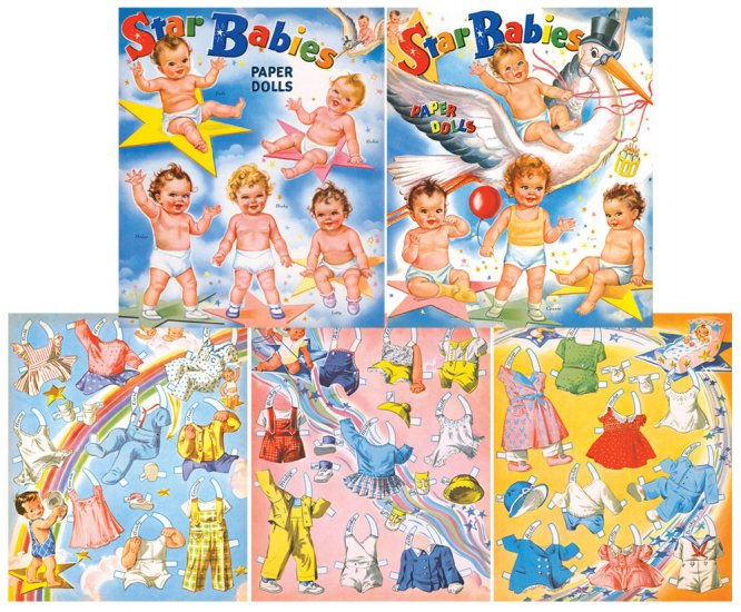 Star Babies Paper Dolls - Click Image to Close