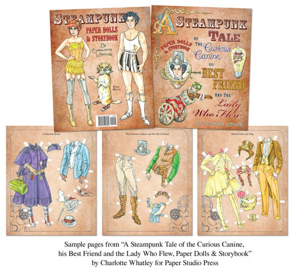 A Steampunk Tale: Paper Dolls and Storybook - Click Image to Close