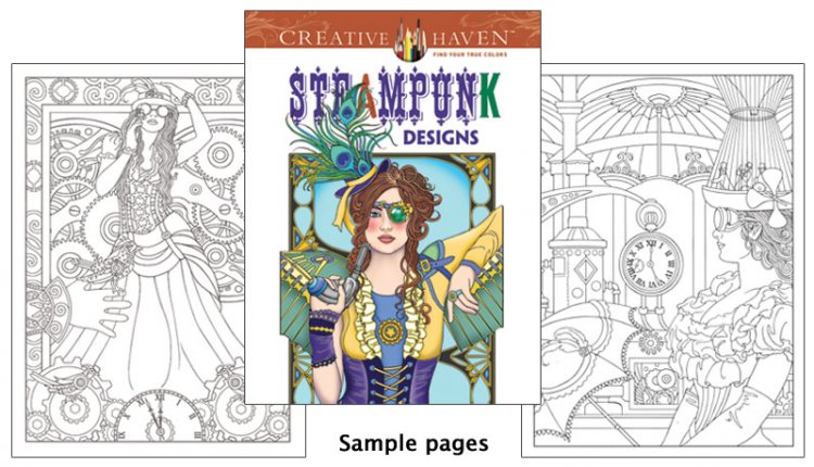 Steampunk Designs Coloring Book - Click Image to Close