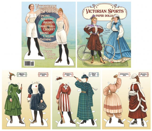 Victorian Sports Paper Doll Book by Brenda Sneathen Mattox preview