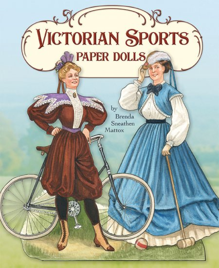Victorian Sports Paper Doll Book by Brenda Sneathen Mattox