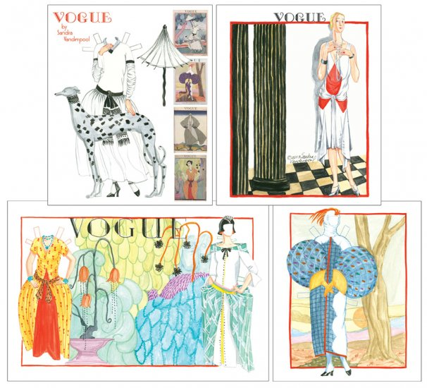 Vogue Covers Paper Doll by Sandra Vanderpool - Click Image to Close
