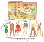 Western Star Style Paper Dolls