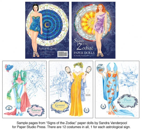 Signs of the Zodiac Paper Dolls - Click Image to Close