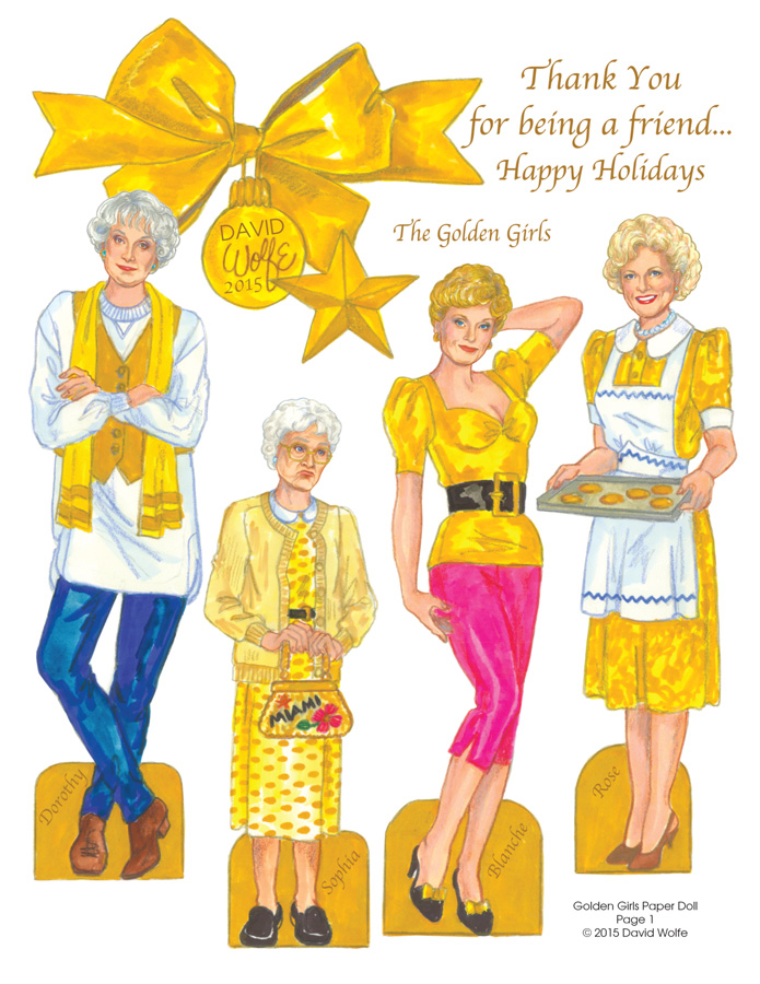 Golden Girls Paper Doll Page 1