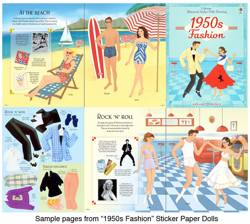 1950s Fashion Sticker Paper Doll