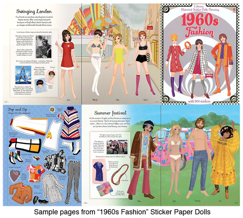 1960s Fashion Sticker Paper Doll Mod Styles Of The 1960s