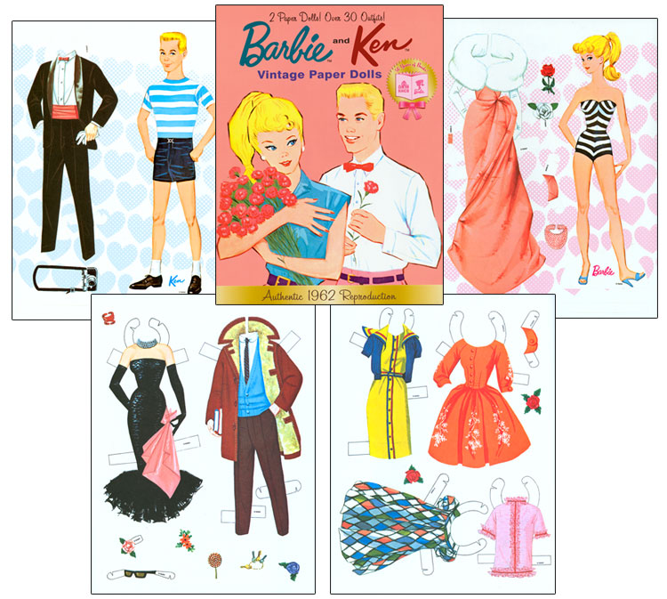 Ken Paper Dolls Barbie And Ken Vintage Paper