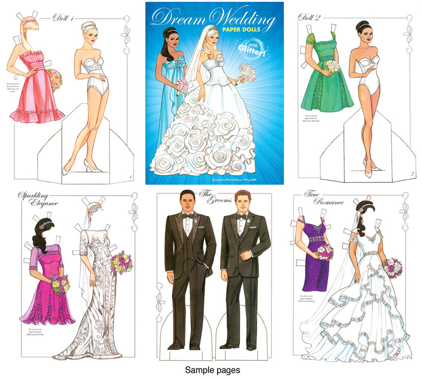 Dream Wedding Paper Dolls Beautiful Bridal Gowns  Paper Dolls