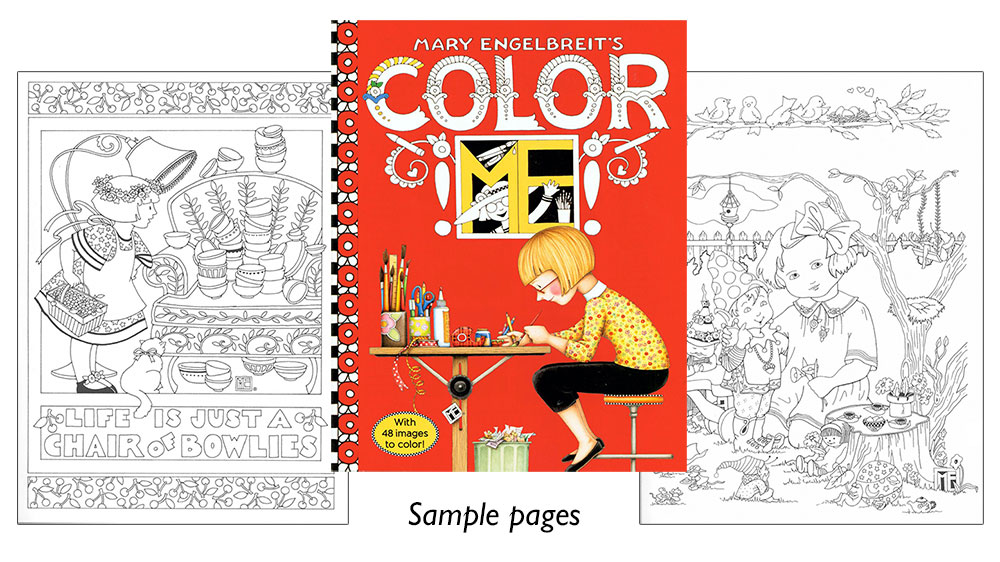 Mary Engelbreit\'s Color ME Coloring Book [Charming designs to color ...