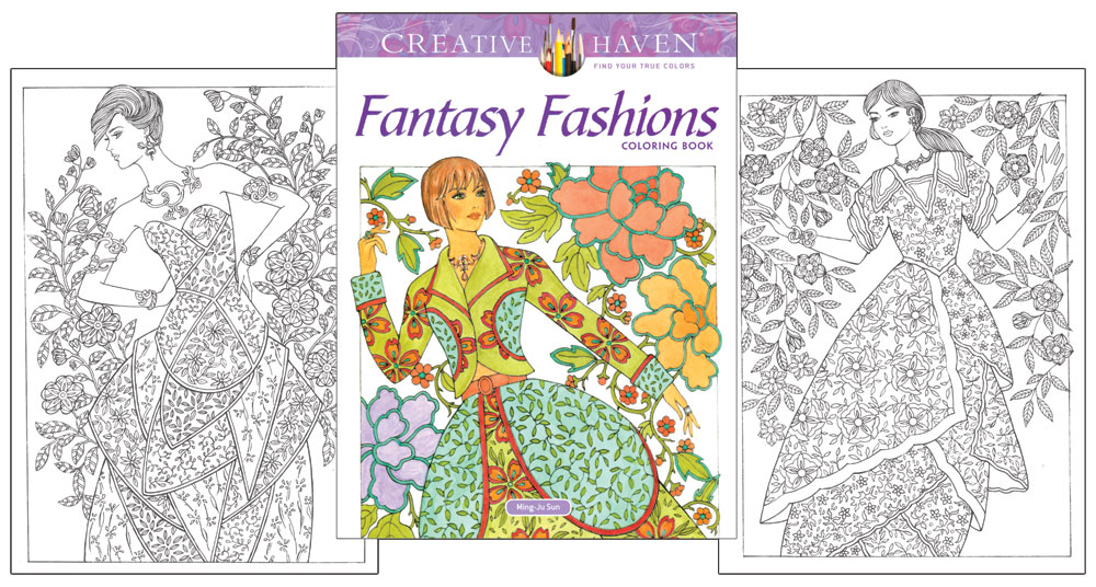 Fantasy Fashions Coloring Book [Garden inspired coloring pages ...