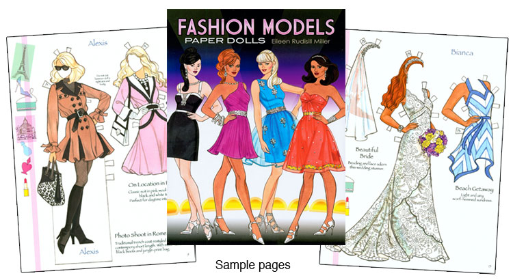 Fashion Model Paper Dolls Chic Fashions For Posh Parties  Paper