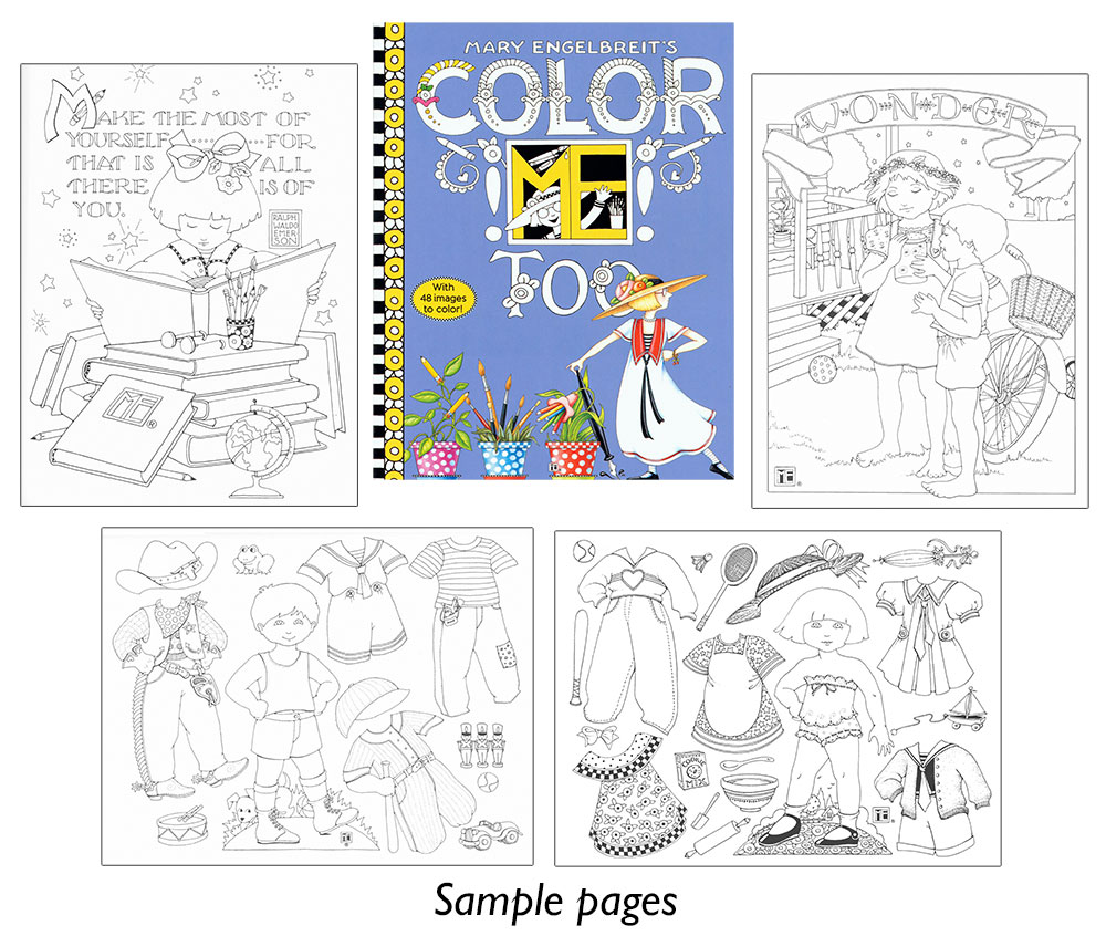 Mary Engelbreit\'s Color ME Too Coloring Book [Includes paper dolls ...