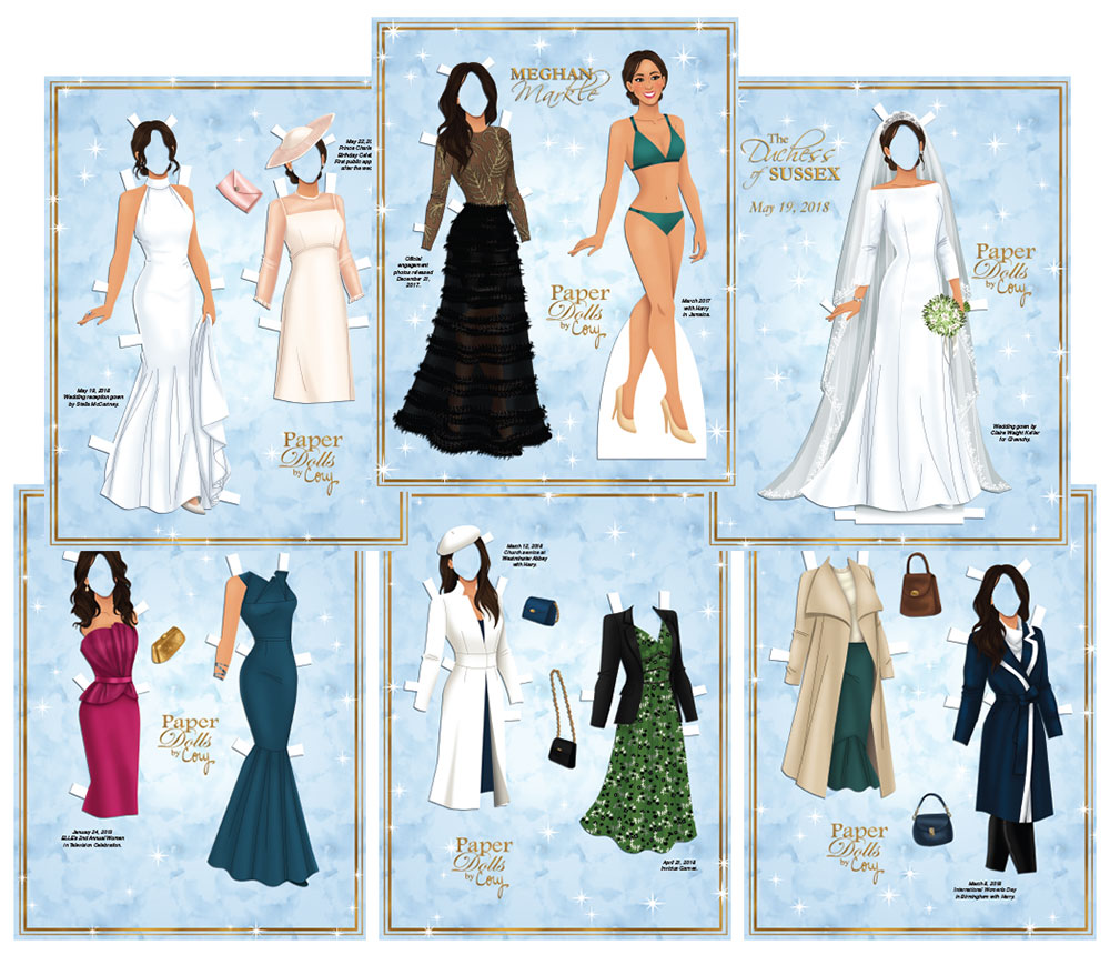 Meghan Markle Paper Doll