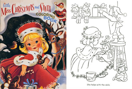 Victorian Christmas Coloring Pages 1 | Free Printable Coloring