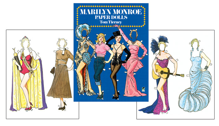 Marilyn Monroe Paper Doll by Tom Tierney