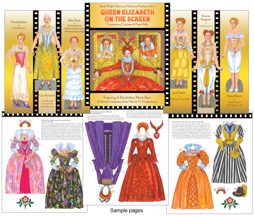 Queen Elizabeth On The Screen Paper Dolls [Regal Elizabeth Gowns