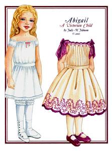 Abigail A Victorian Child Victorian Fashions Paper