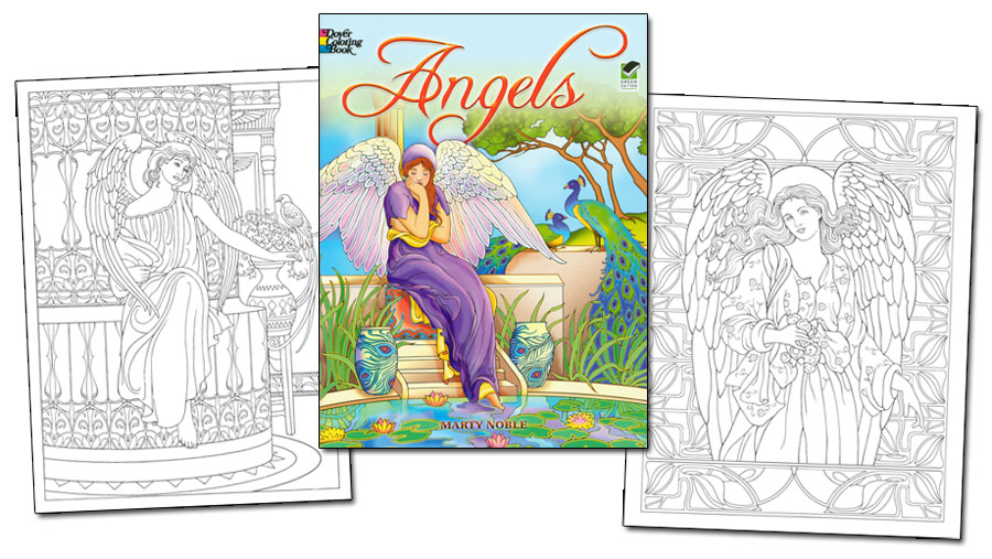 Angels Coloring Book [Divine Angel Designs to Color] : Paper Dolls ...