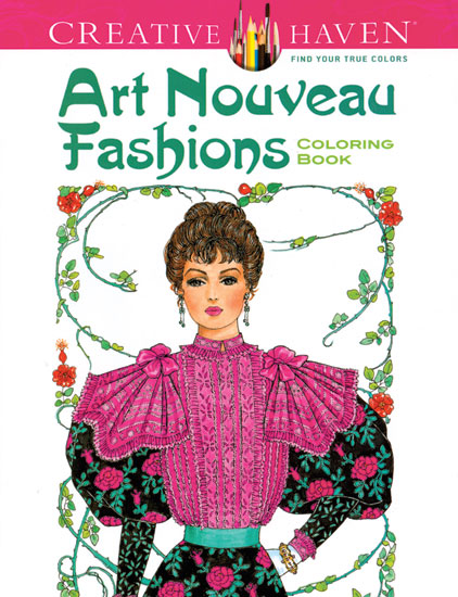 Art Nouveau Fashions Coloring Book