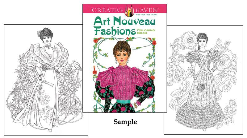 art nouveau fashions coloring book - Fashion Coloring Book