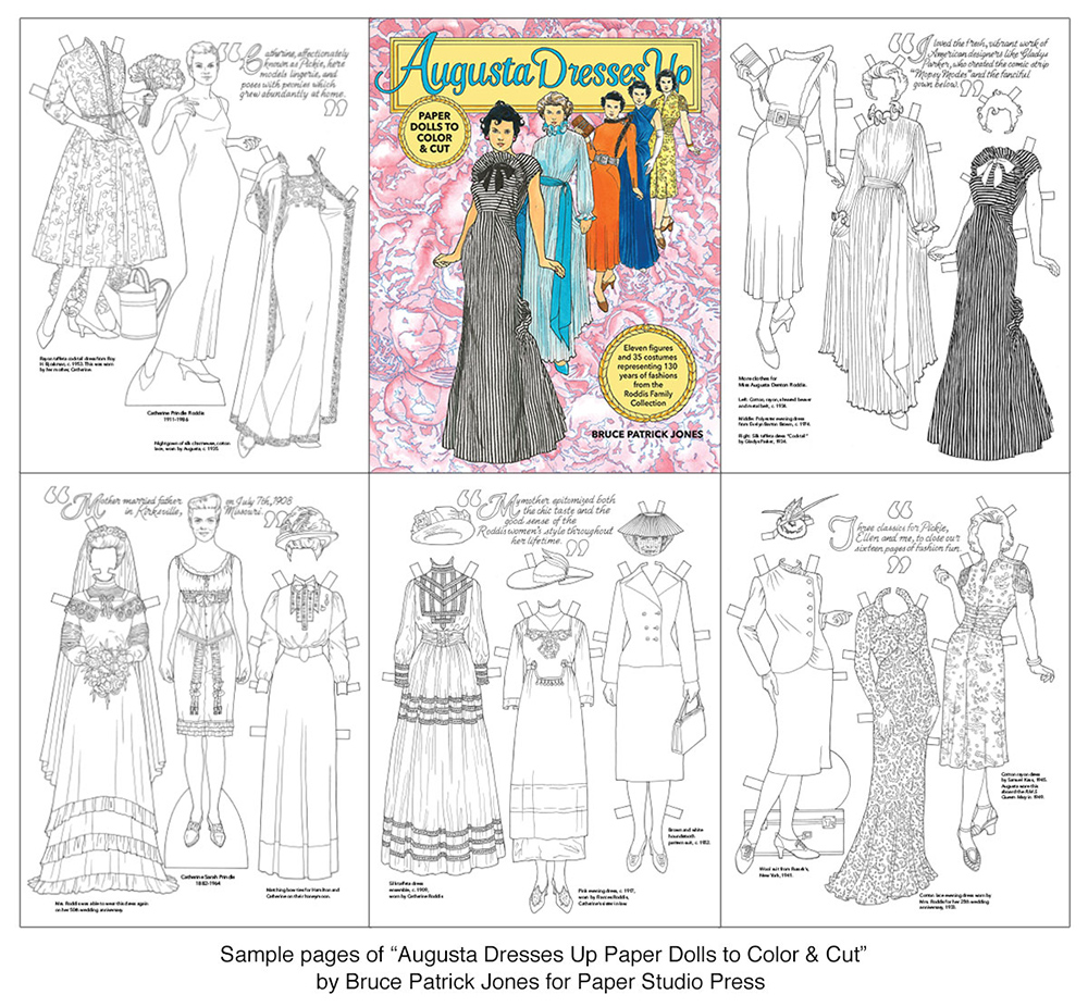 Augusta Dresses Up Paper Dolls to Color & Cut