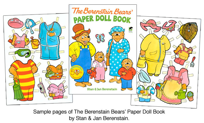 Berenstain Bears Paper Dolls