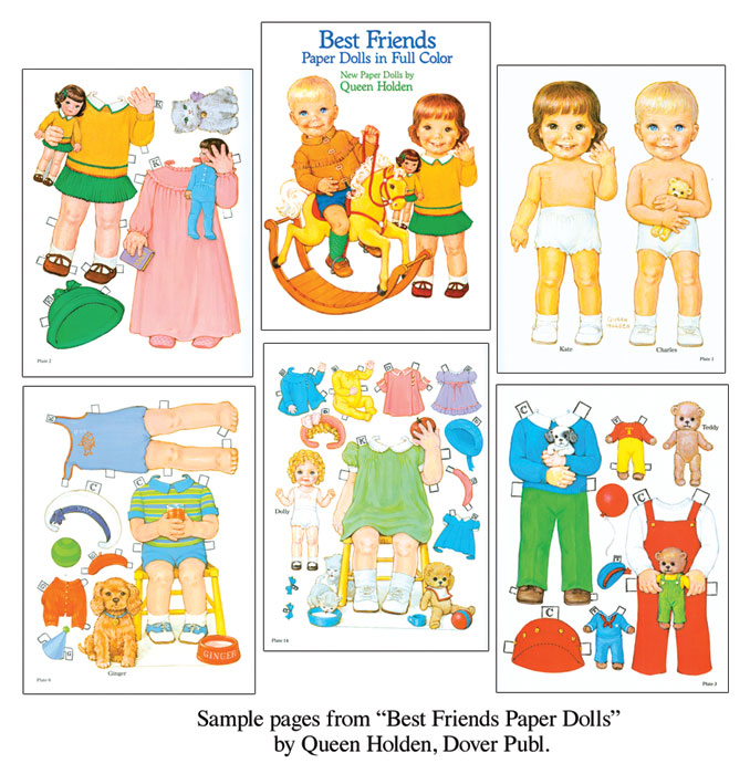 Best Friends [Adorable Queen Holden Paper Doll] : Paper Dolls Of