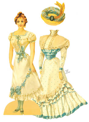 Brides Maid, Die Cut Victorian Paper Doll