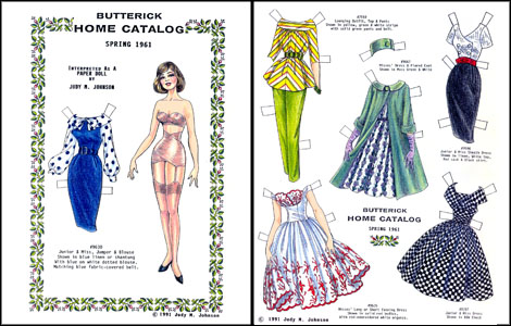 Butterick Fashions Paper Doll