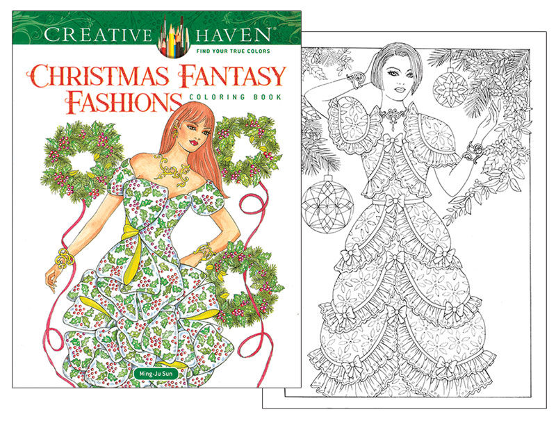 Christmas Fantasy Fashions Coloring Book Pretty Christmas Gowns To