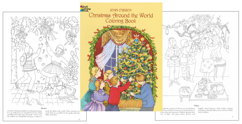 Christmas Around The World Coloring Book Coloring Pages