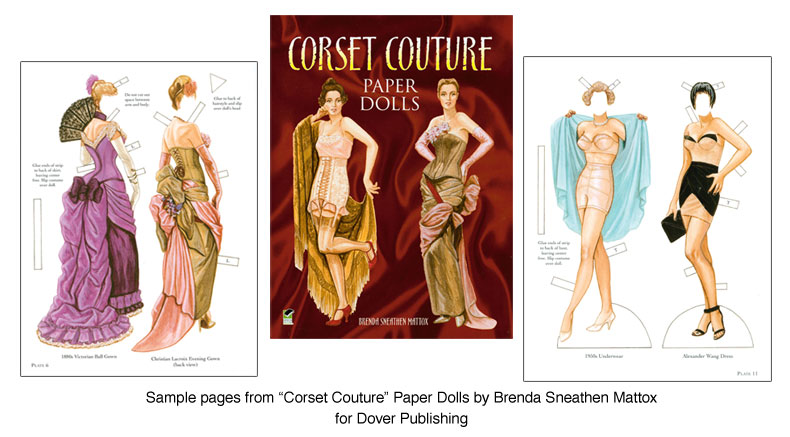 Corset Couture Paper Dolls Corset Inspired Fashions  Paper Dolls