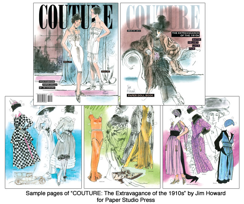 COUTURE: The Extravagance of the 1910s Paper Dolls