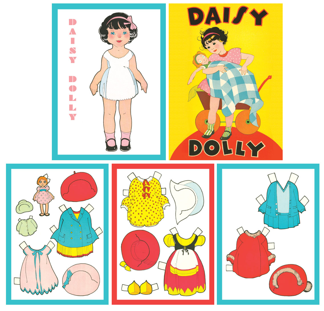 Daisy Dolly Paper Dolls - Click Image to Close