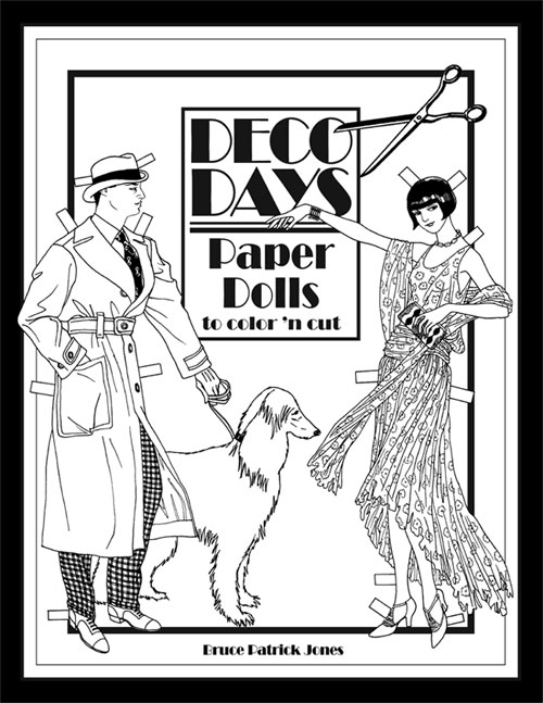 Deco Days Paper Dolls to Color 'n Cut