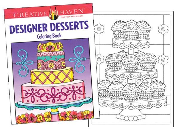 Designer Desserts Coloring Book