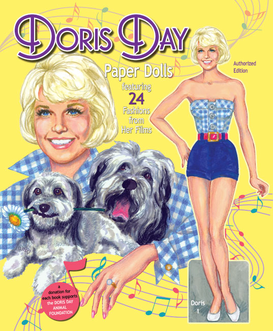 Doris Day Paper Dolls featuring 24 Fashions from Her Films - Click Image to Close