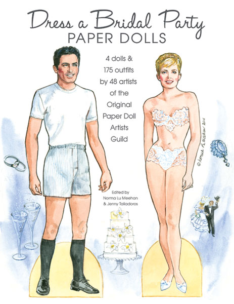 Dress a Bridal Party Paper Dolls - Click Image to Close