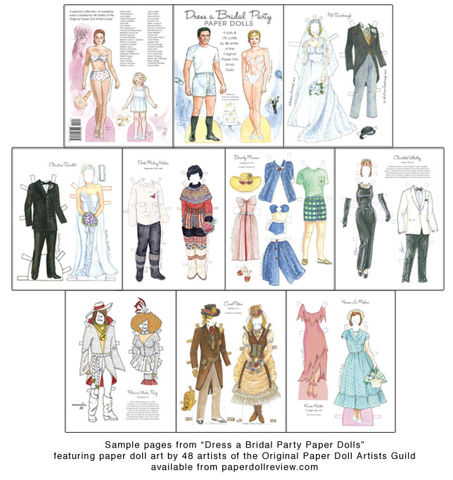 Dress a Bridal Party Paper Dolls