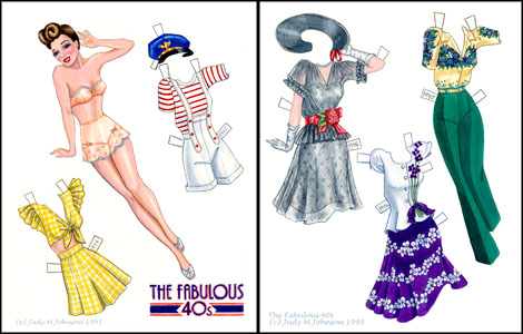 Fabulous 40s Paper Doll