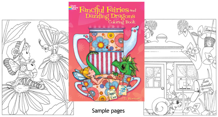 Fanciful Fairies & Dazzling Dragons Coloring Book - Click Image to Close