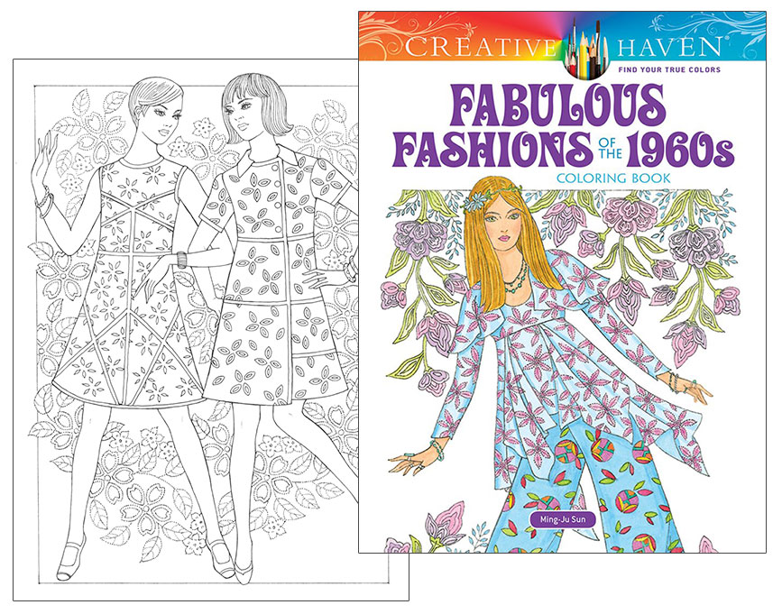 Fabulous Fashions Of The 1960s Coloring Book Fab Sixties Fashions